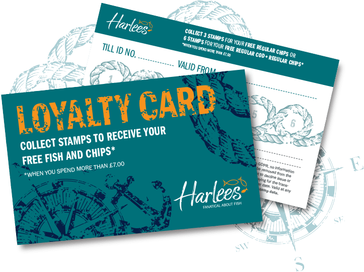 Harlees Loyalty Card - Harlees Fanatical About Fish